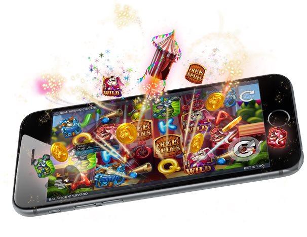 Många spel i mobil casino